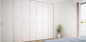 襖の押入を、開口の広いクローゼットへ変えて収納力をアップ